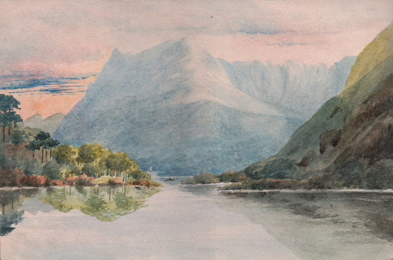 Honister Crag from Crummock, 1879