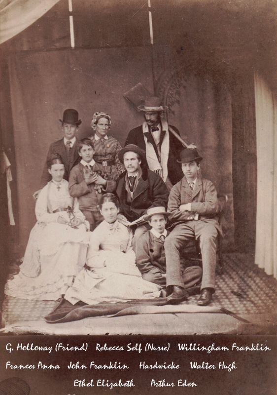 Rawnsley Family, 1874 at Skegness
