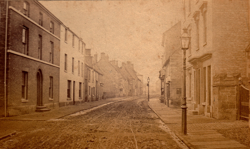 High Street West, 1861 (Uppingham School Archives)