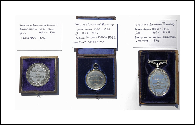Medals for Elocution, Public Reading, and Good Work and Unblemished Character (Uppingham School Archives)