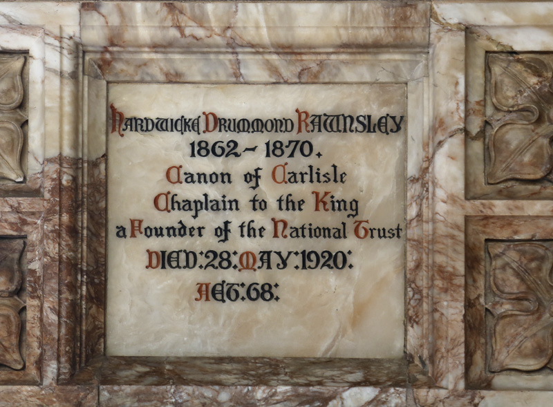 Plaque in Uppingham School Chapel